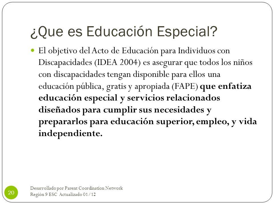 ¿Que es Educación Especial