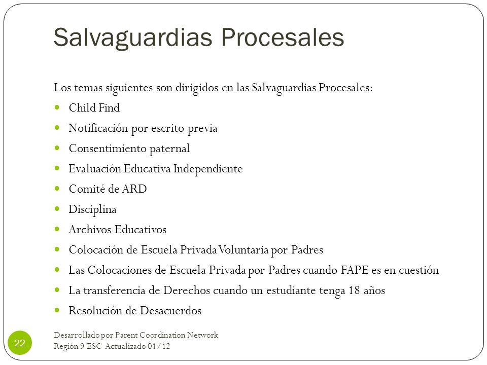 Salvaguardias Procesales