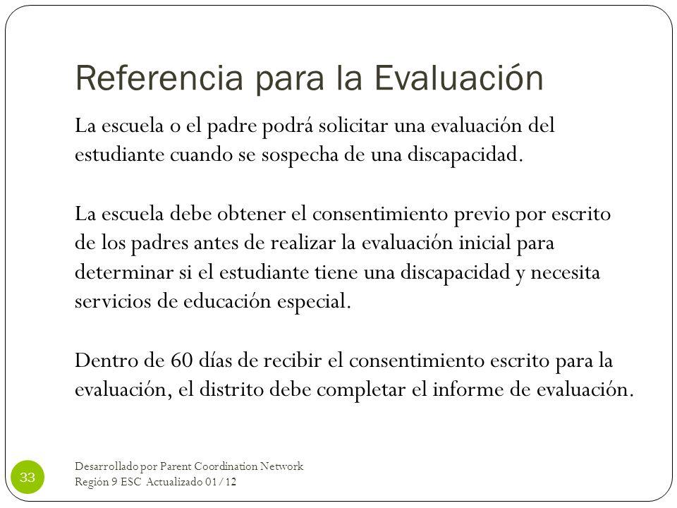 Referencia para la Evaluación