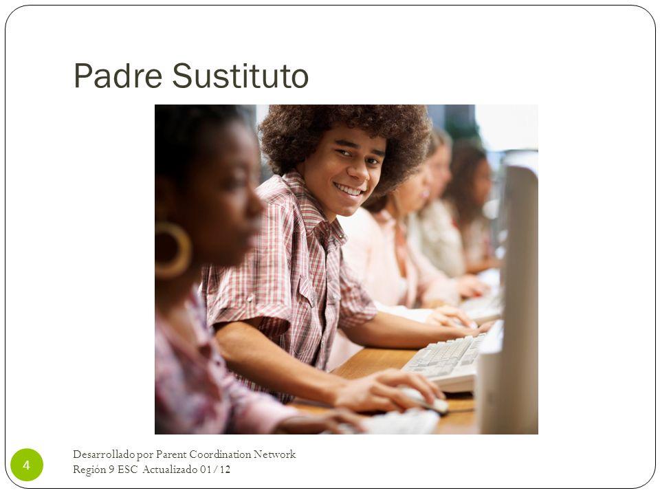 Padre SustitutoDesarrollado por Parent Coordination Network Región 9 ESC Actualizado 01/12.