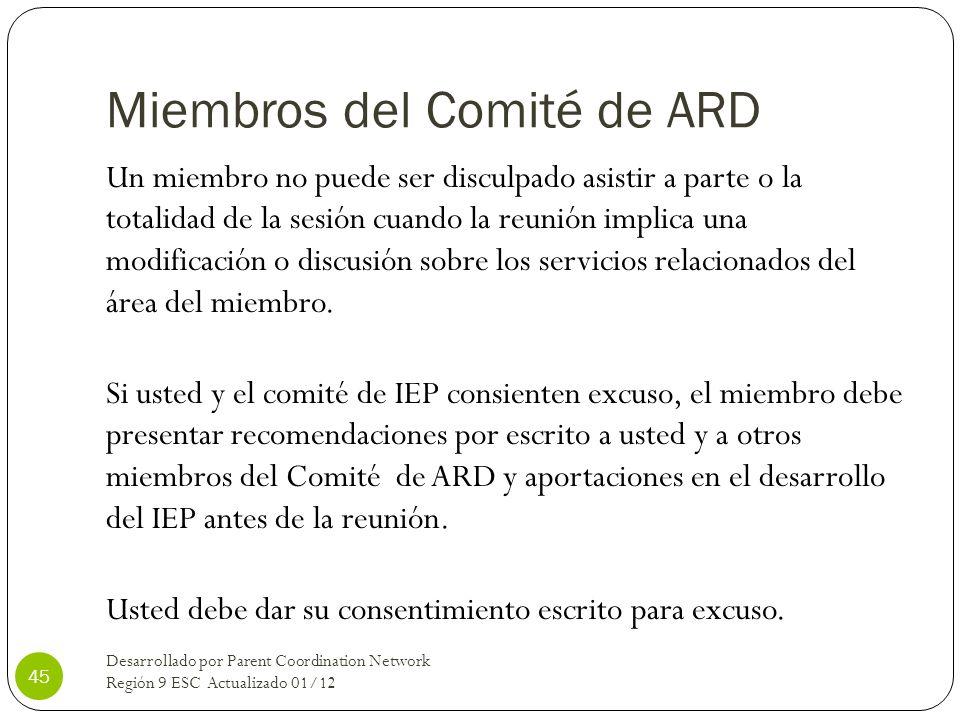 Miembros del Comité de ARD