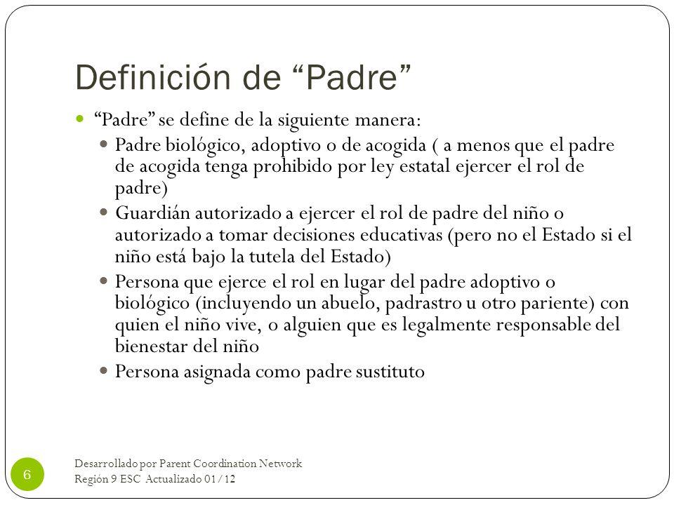 Definición de Padre Padre se define de la siguiente manera:
