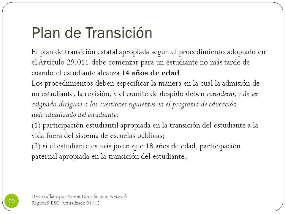 Plan de Transición
