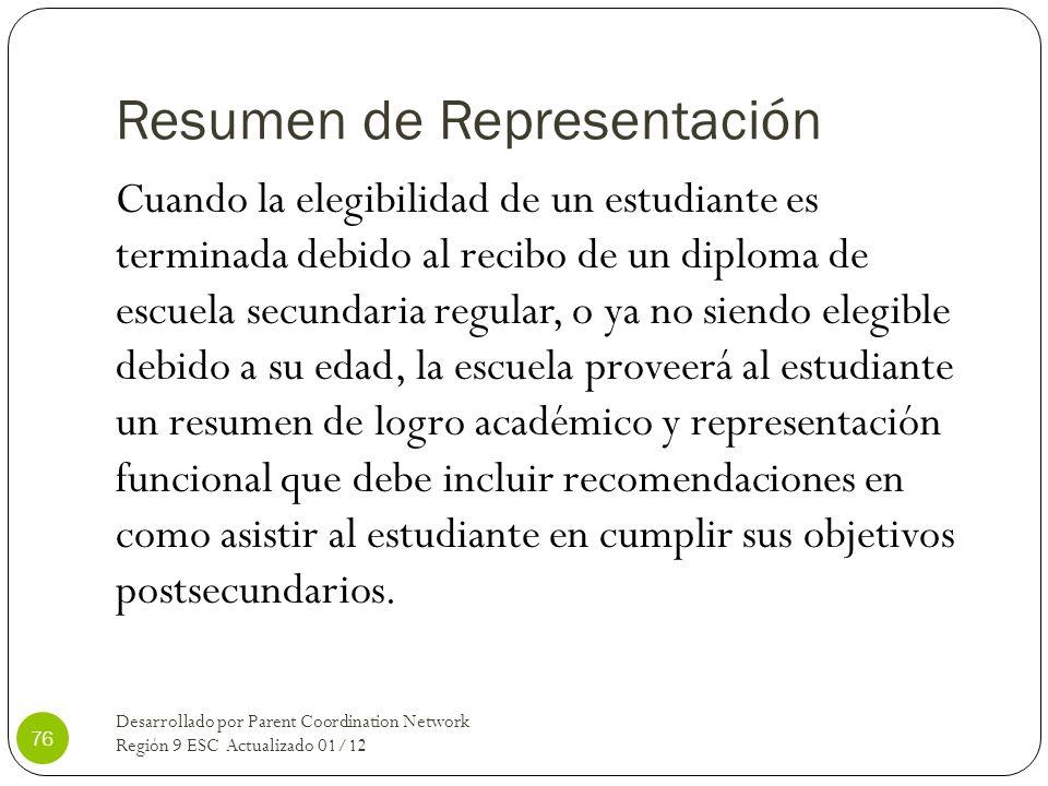 Resumen de Representación