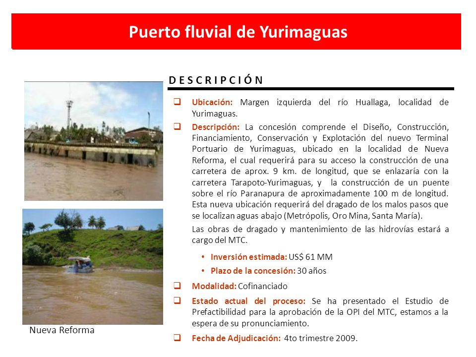 Puerto fluvial de Yurimaguas