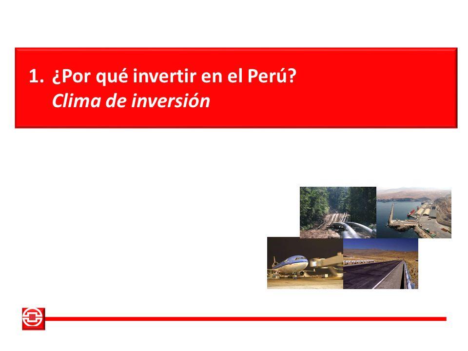 ¿Por qué invertir en el Perú Clima de inversión