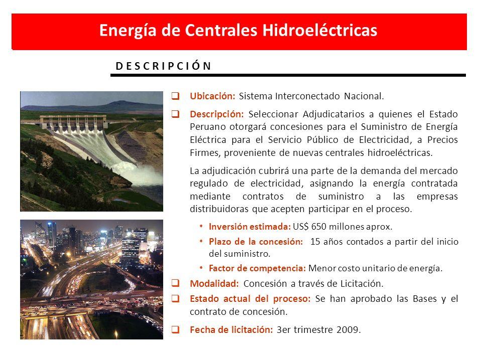 Energía de Centrales Hidroeléctricas