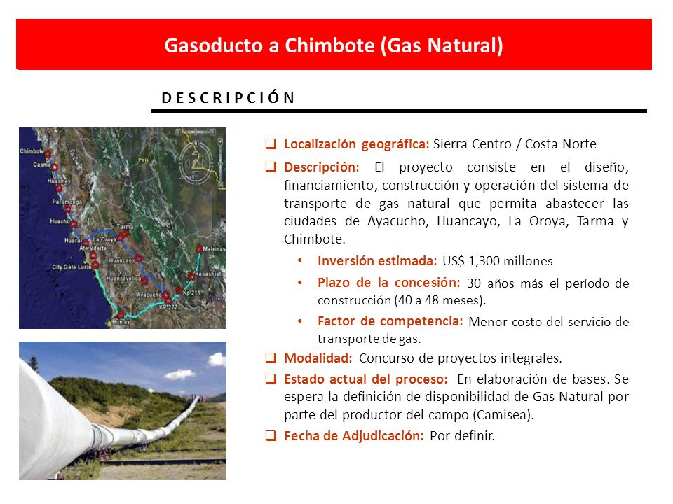 Gasoducto a Chimbote (Gas Natural)