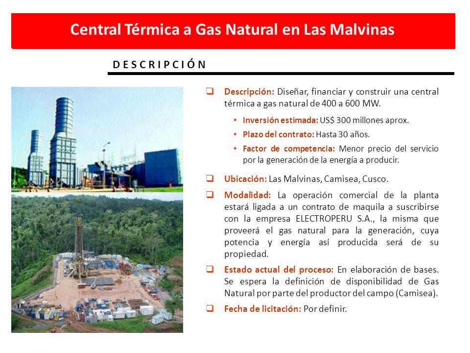 Central Térmica a Gas Natural en Las Malvinas