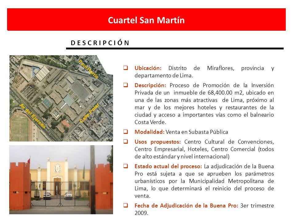 Cuartel San Martín D E S C R I P C I Ó N