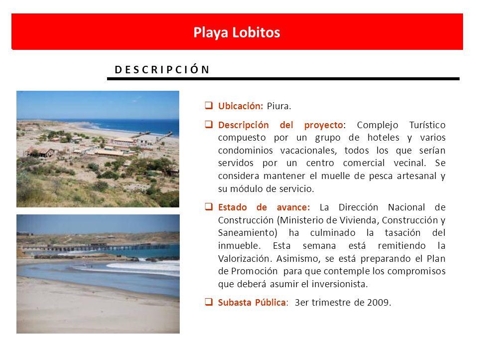 Playa Lobitos D E S C R I P C I Ó N Ubicación: Piura.