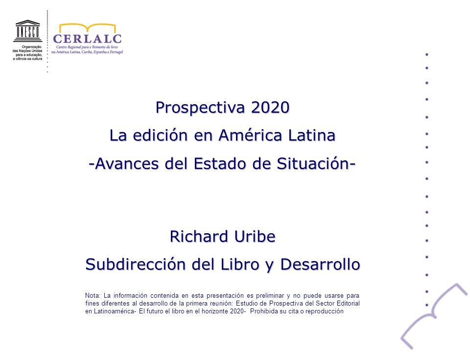 La edición en América Latina -Avances del Estado de Situación-