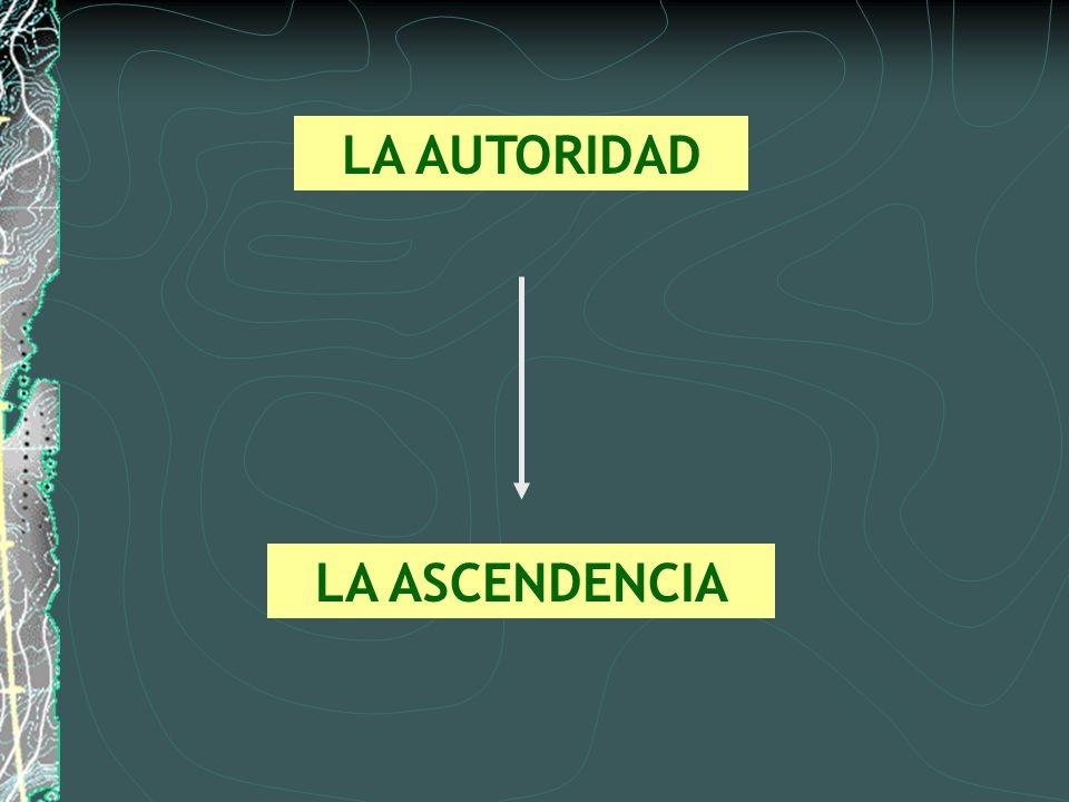 LA AUTORIDAD LA ASCENDENCIA
