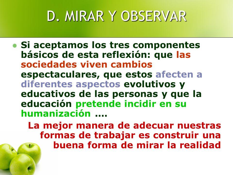 D. MIRAR Y OBSERVAR
