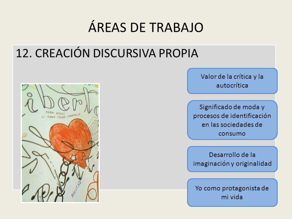 ÁREAS DE TRABAJO 12. CREACIÓN DISCURSIVA PROPIA