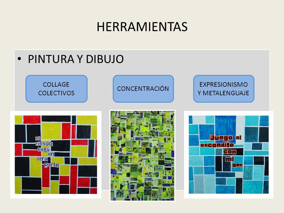 HERRAMIENTAS PINTURA Y DIBUJO COLLAGE COLECTIVOS CONCENTRACIÓN