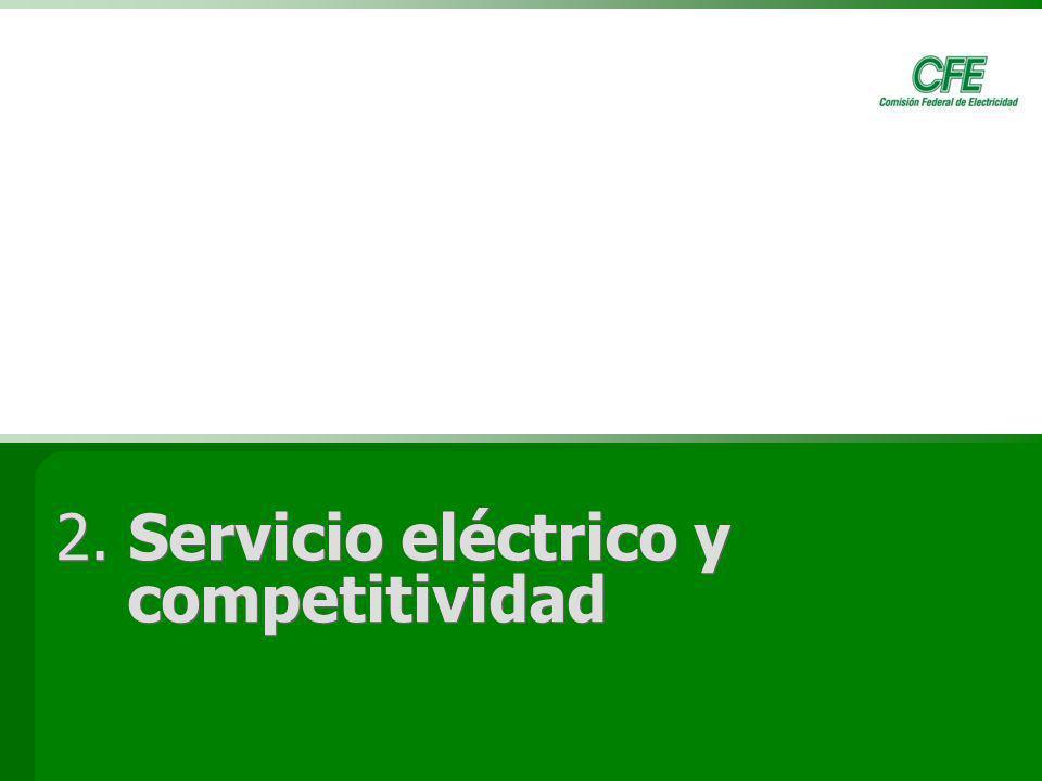 2. Servicio eléctrico y competitividad