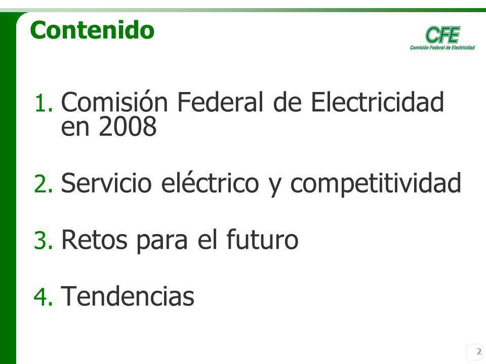 Comisión Federal de Electricidad en 2008