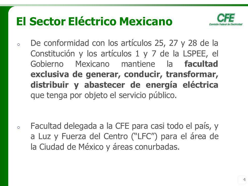 El Sector Eléctrico Mexicano
