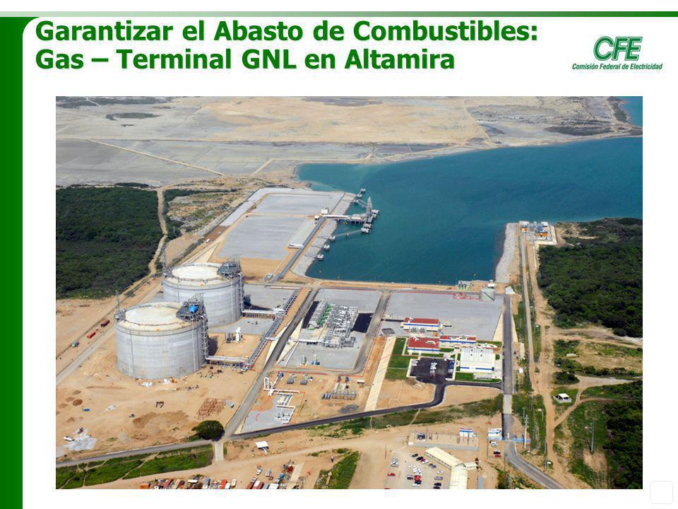 Garantizar el Abasto de Combustibles: Gas – Terminal GNL en Altamira