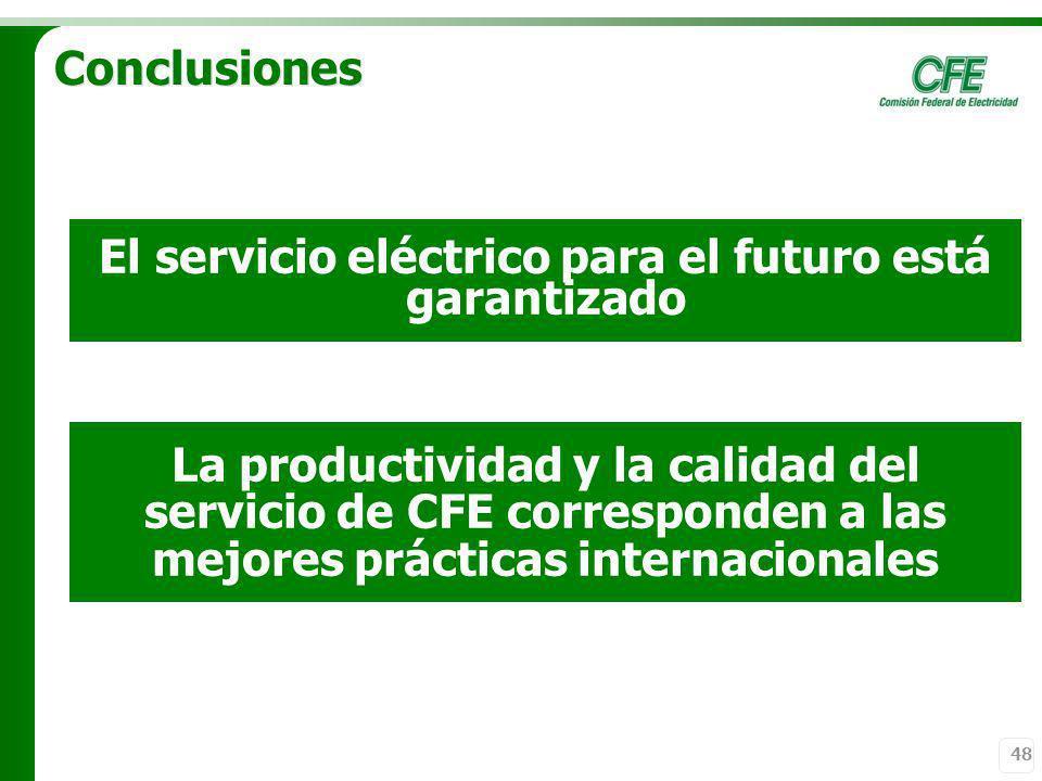 El servicio eléctrico para el futuro está garantizado