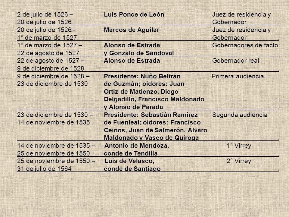2 de julio de 1526 – Luis Ponce de León Juez de residencia y