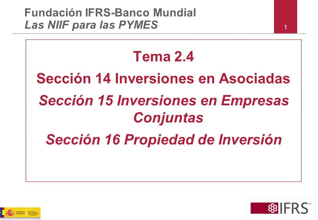 Sección 14 Inversiones en Asociadas