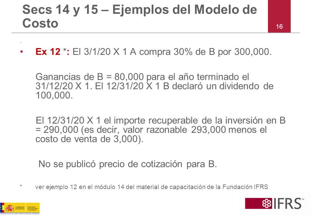 Secs 14 y 15 – Ejemplos del Modelo de Costo