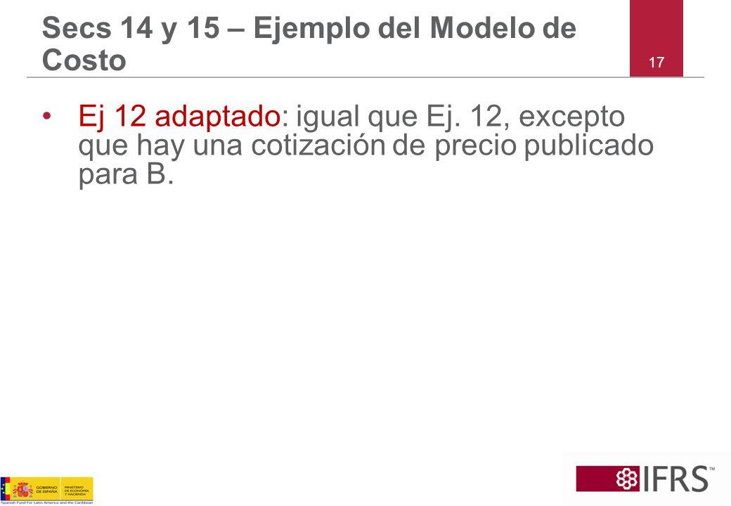 Secs 14 y 15 – Ejemplo del Modelo de Costo
