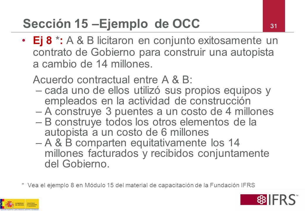 Sección 15 –Ejemplo de OCC