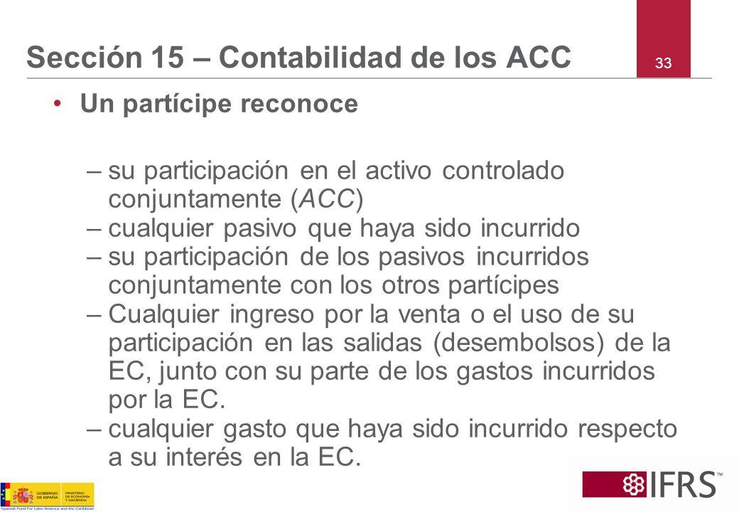 Sección 15 – Contabilidad de los ACC