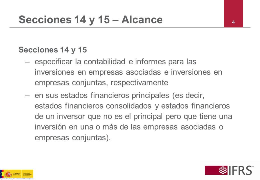 Secciones 14 y 15 – Alcance 4. Secciones 14 y 15.