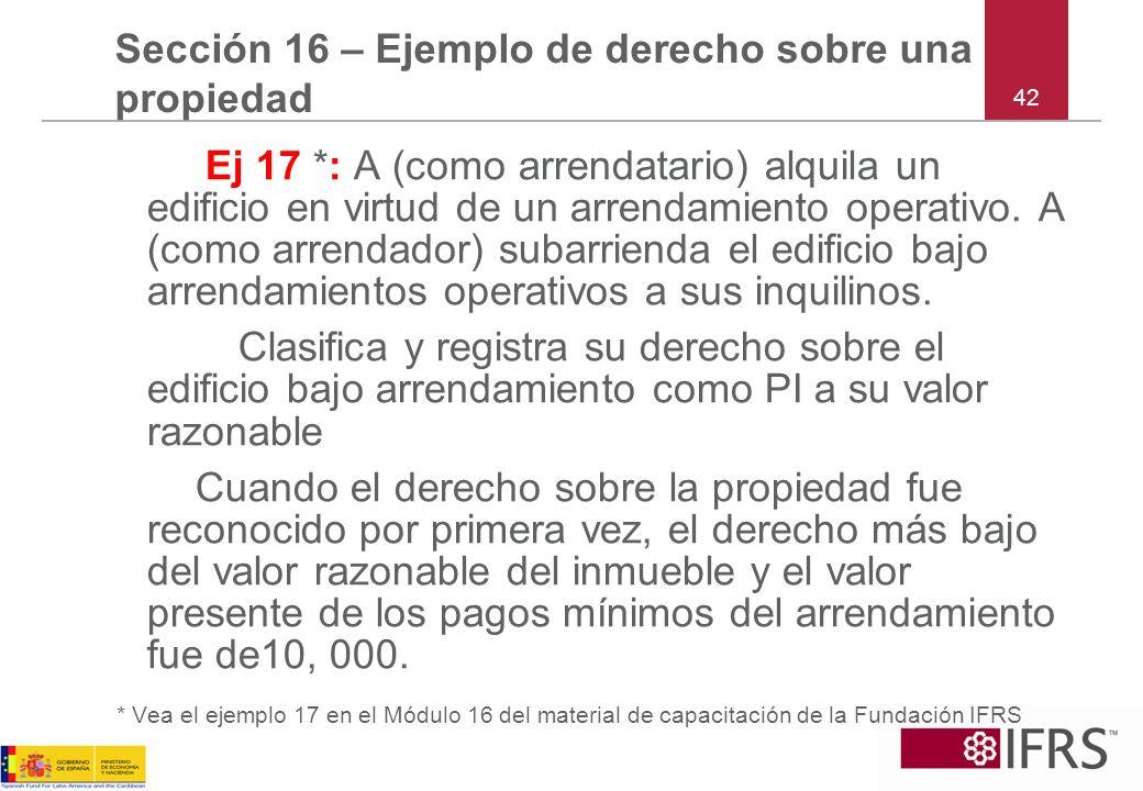 Sección 16 – Ejemplo de derecho sobre una propiedad