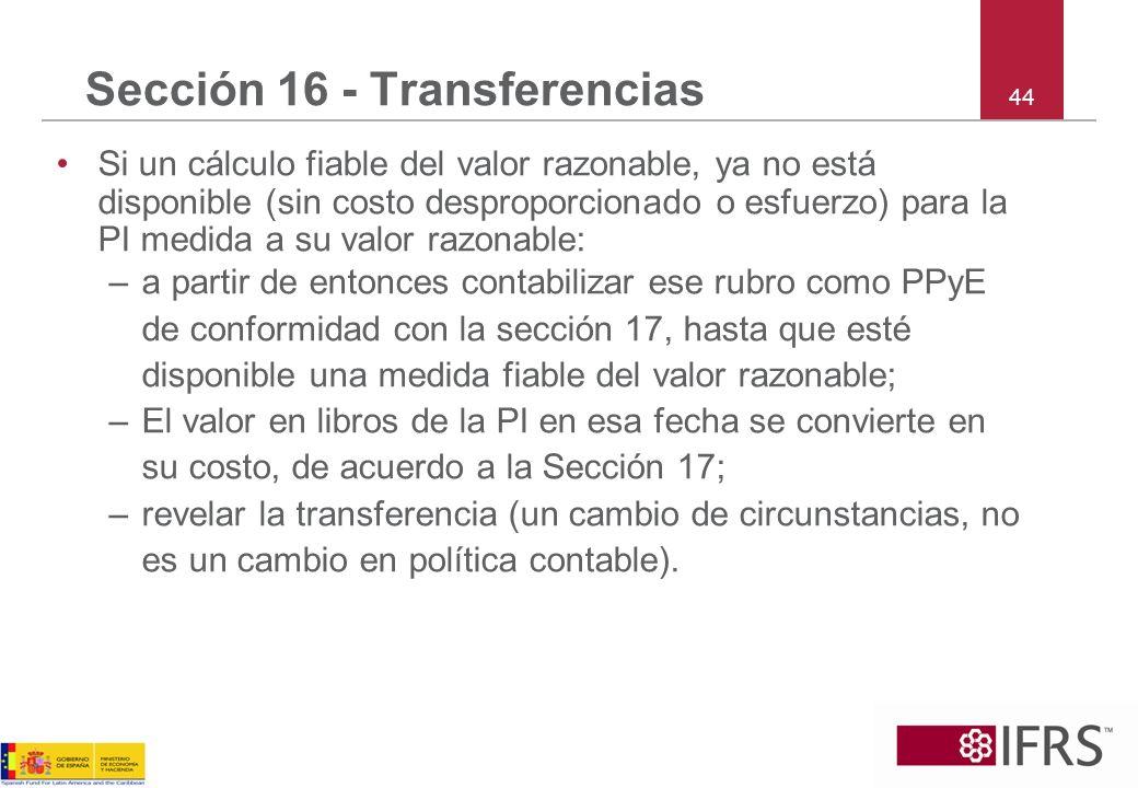 Sección 16 - Transferencias