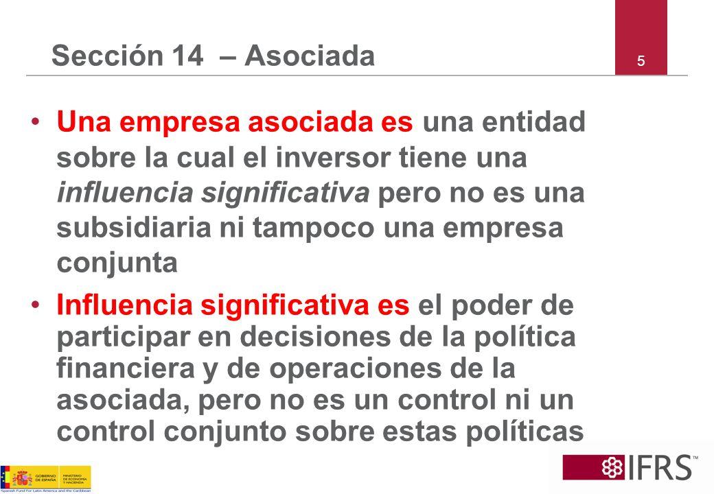 Sección 14 – Asociada 5.