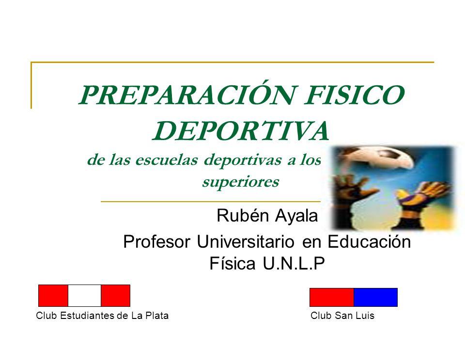 Rubén Ayala Profesor Universitario en Educación Física U.N.L.P