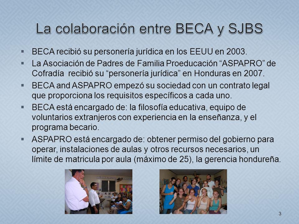 La colaboración entre BECA y SJBS