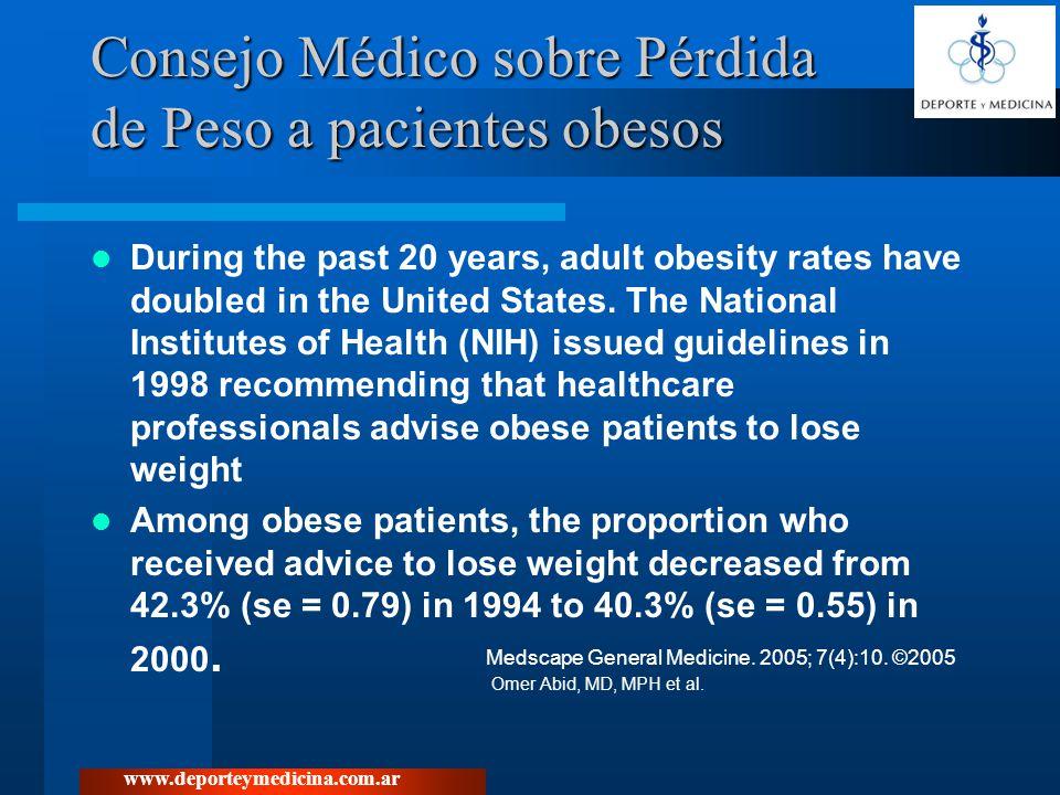 Consejo Médico sobre Pérdida de Peso a pacientes obesos