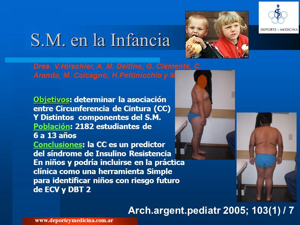 S.M. en la Infancia Arch.argent.pediatr 2005; 103(1) / 7