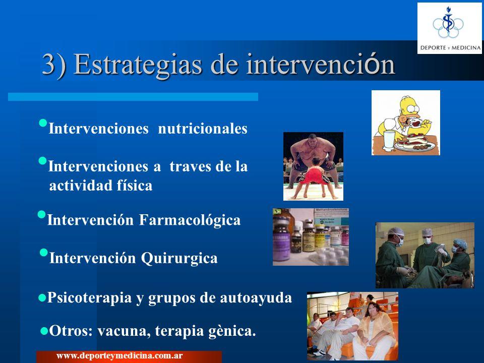 3) Estrategias de intervención