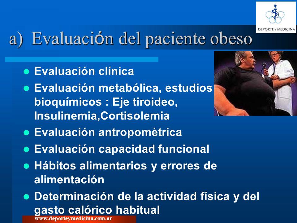 Evaluación del paciente obeso