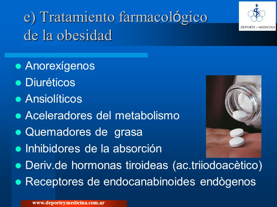 e) Tratamiento farmacológico de la obesidad