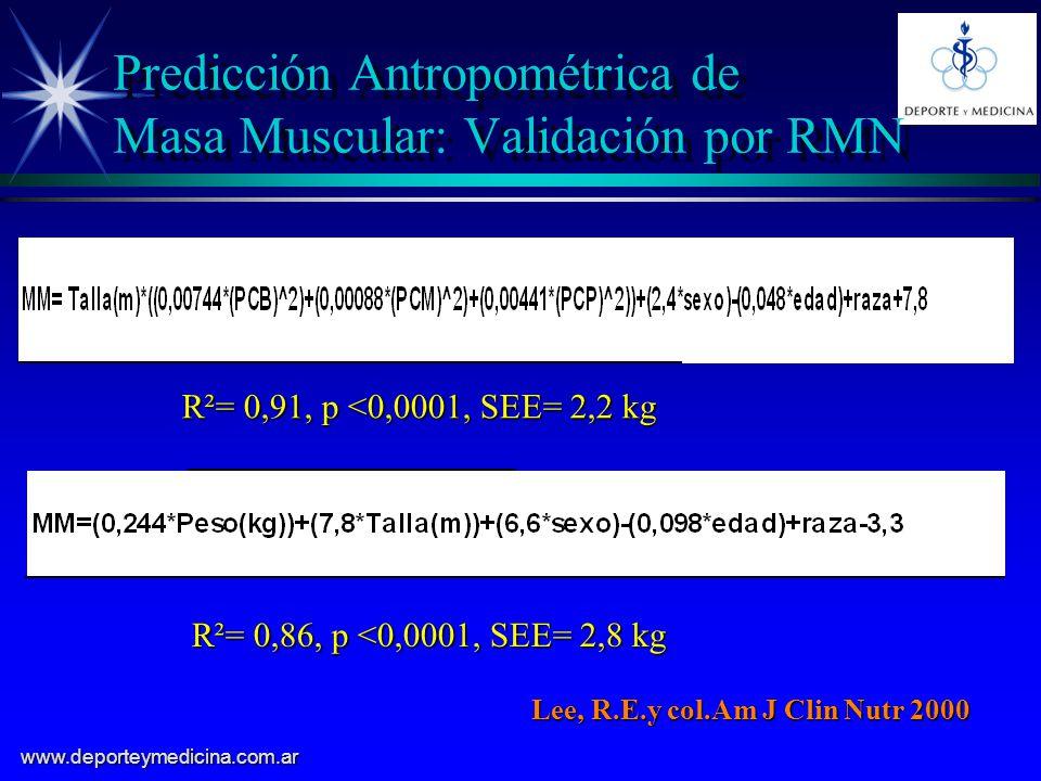 Predicción Antropométrica de Masa Muscular: Validación por RMN
