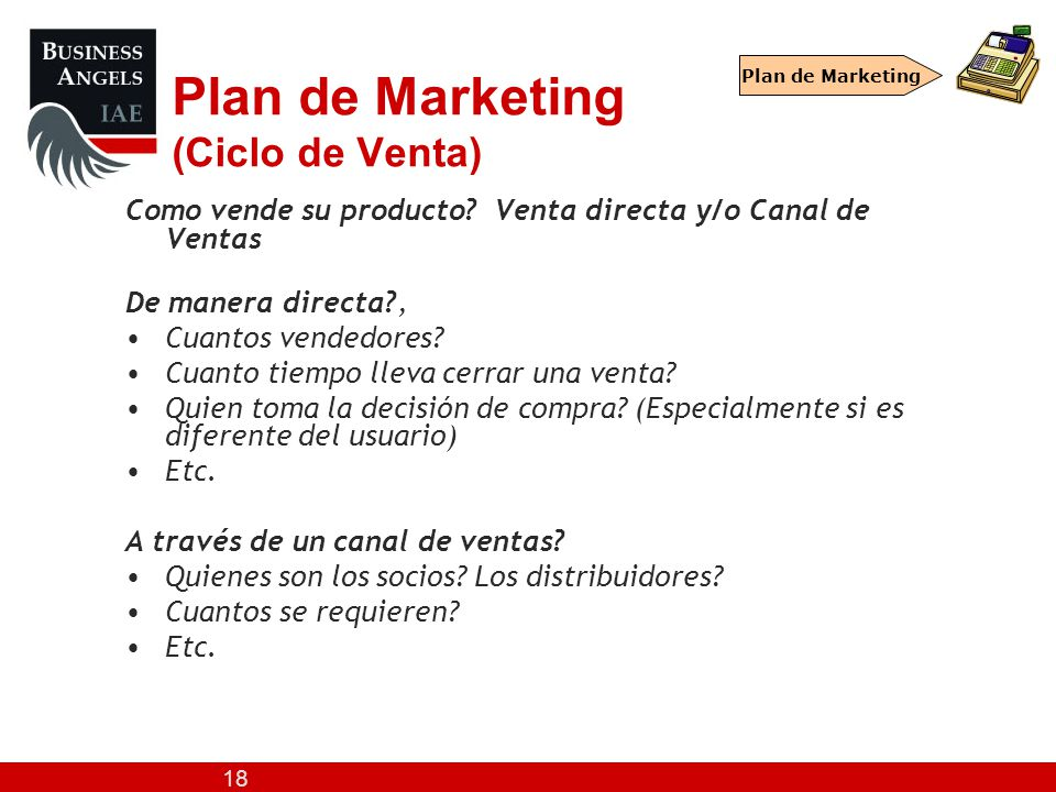 Plan de Marketing (Ciclo de Venta)
