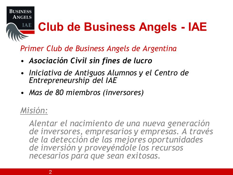 Club de Business Angels - IAE