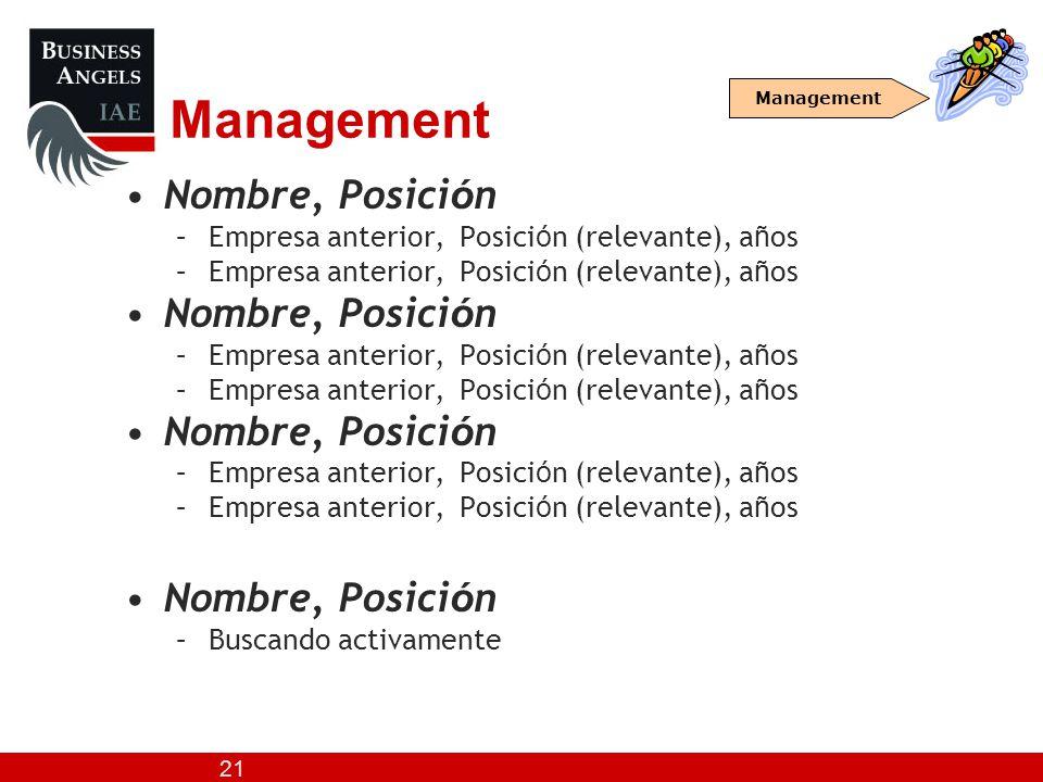 Management Nombre, Posición
