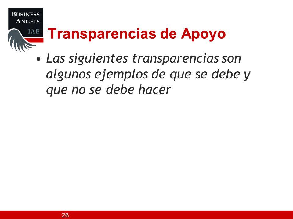 Transparencias de Apoyo
