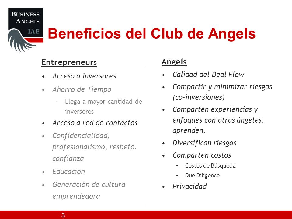 Beneficios del Club de Angels