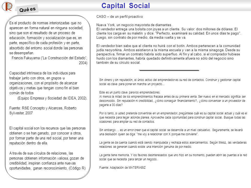 Capital Social Qué es. CASO – de un perfil proactivo. Nueva York, un negocio mayorista de diamantes.