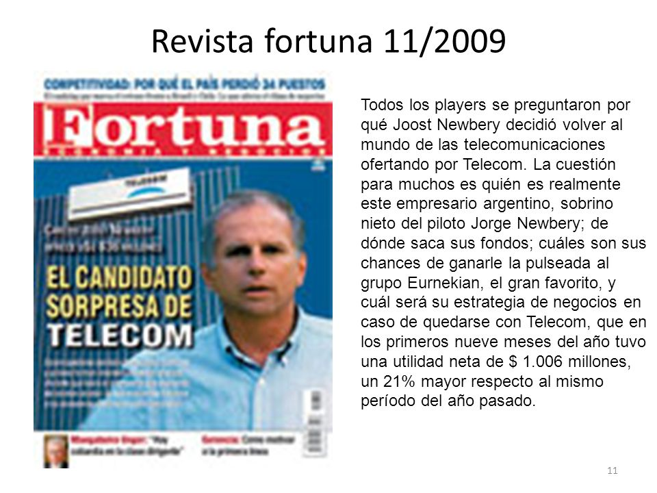 Revista fortuna 11/2009